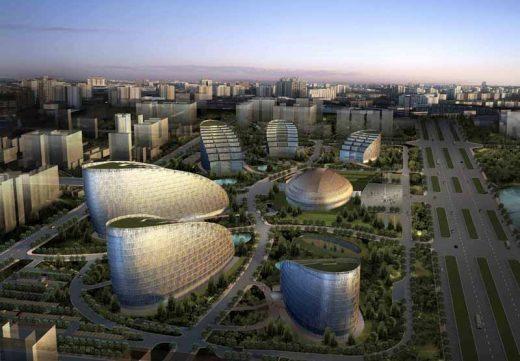 Chengdu Technology and Science Enterprising Centre building in China by Paul Andreu Architect