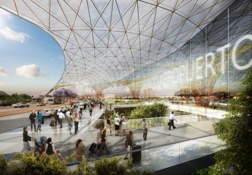 Mexico City New International Airport building by Foster + Partners and FR-EE Fernando Romero