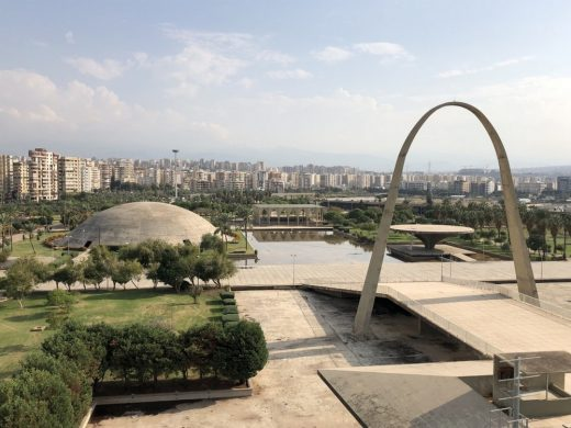 Oscar Niemeyer's Permanent International Fairground in Tripoli, Lebanon