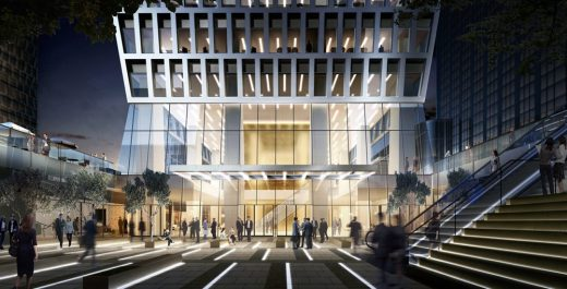 Entry to Hongqiao Central Park Office Building Development