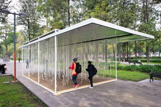 Ephemeral Pavilion in The Alameda Central of Mexico City