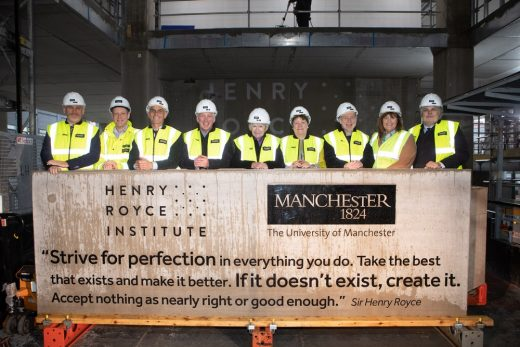 Henry Royce Institute for Advanced Materials Hub topping out
