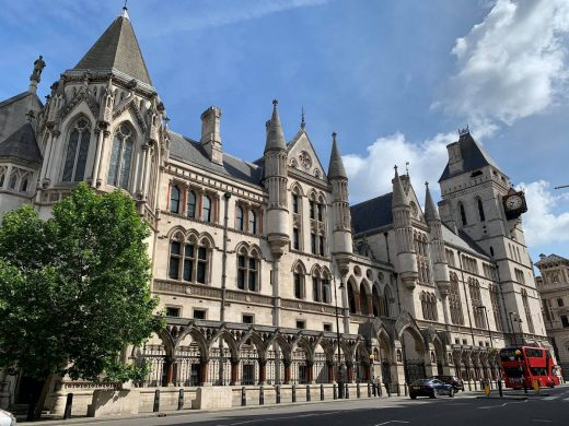 Royal Courts of Justice Strand building London