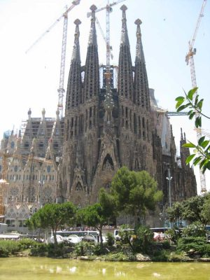 Sagrada Familia by architect Antoni Gaudi