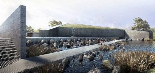 The Sunken Shrine of Our Lady of Lourdes of Cabetician, Bacolor, Philippines by BAAD Studio