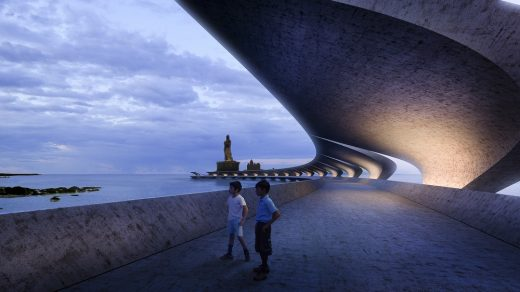 Thiruvalluvar project in Kanyakumari, India