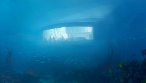 World's largest underwater restaurant in Båly, Norway, design by Snøhetta