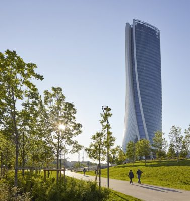Generali Tower in Milan building by architect Zaha Hadid