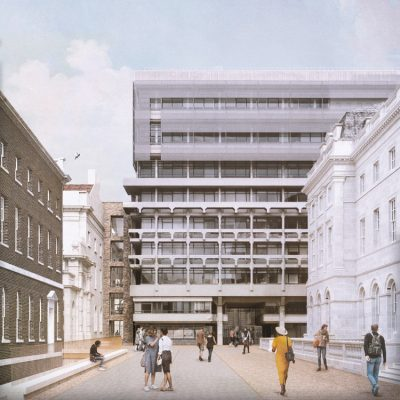 152–158 Strand Kings College's Strand Campus Building design proposal by Hall McKnight