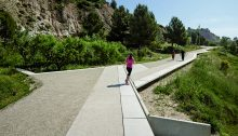 Pedestrian Path along the Gypsum Mines in Barcelona