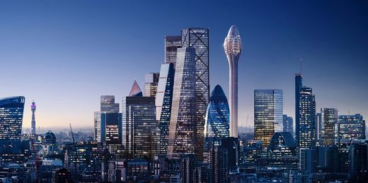 The Tulip City of London Tower building design by Foster + Partners