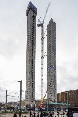 World's Tallest Modular Buildings construction in Croydon London