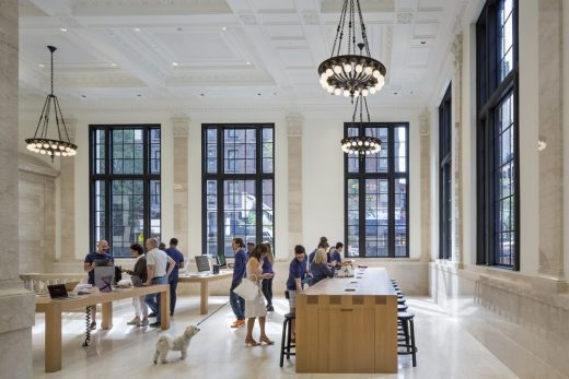 Apple Store Madison Avenue Shop interior NYC by Bohlin Cywinski Jackson