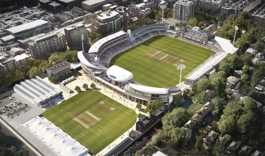 Compton and Edrich Stands Redevelopment at Lords London