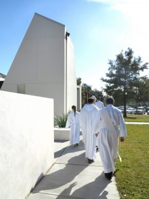 St. Pius X Catholic Church Chapel and Prayer Garden in New Orleans