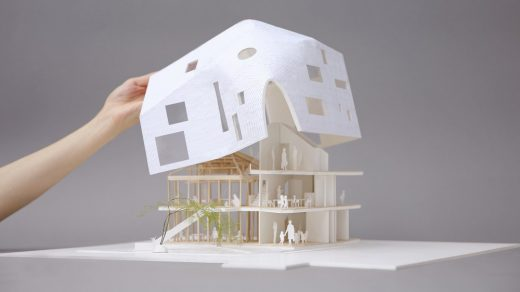 Clover House model by MAD Architects