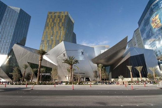 Crystals Retail Center in Las Vegas Upscale Luxury Mall