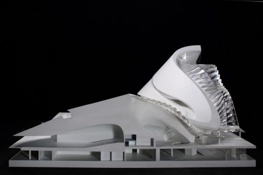 Harbin Opera House model by MAD Architects