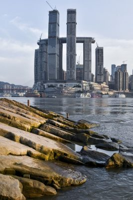 Raffles City Chongqing building development for CapitaLand