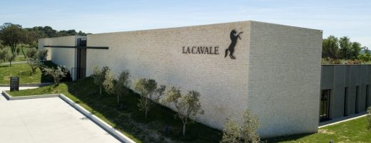 La Cavale winery building Luberon, southern France