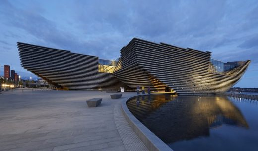 V&A Dundee building by Kengo Kuma architect