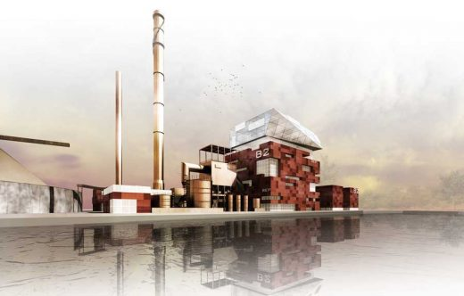 Grangemouth Energy Plant building design by Ryder Architecture