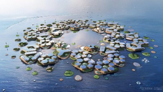 Oceanix City by BIG Architects, UN Sustainable Floating Cities