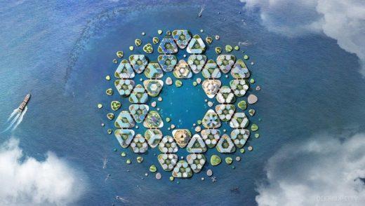 Oceanix City design by BIG, UN Sustainable Floating Cities