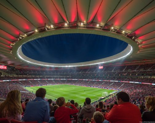 Wanda Metropolitano Stadium in Madrid
