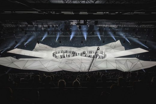 Both Sides in Arena Riga Latvian Architecture News