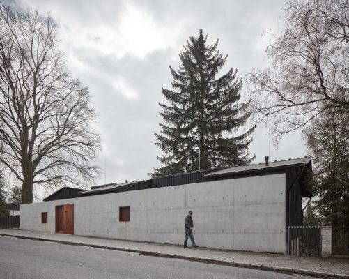 House behind the wall in Liberec, Czech Republic Building News