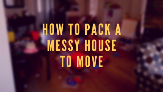How to pack a messy house to move
