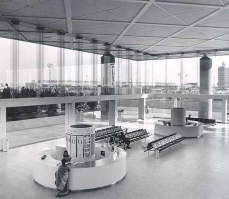 JFK Airport Terminal 6 building in New York, NY, USA