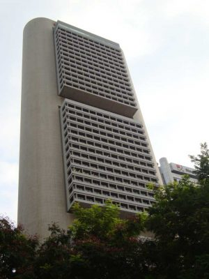 OCBC Center Singapore building tower by IM Pei
