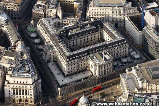 Bank of England Building aerial photo