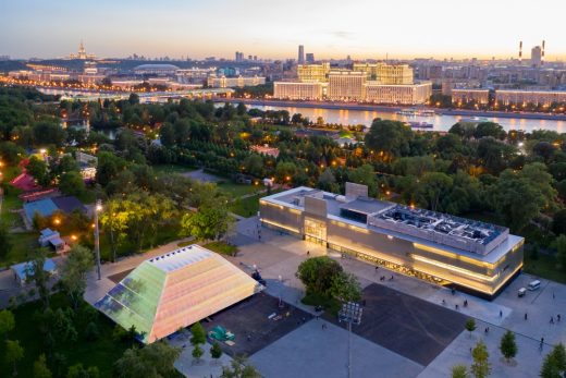 Garage Screen Summer Movie Theater, Moscow Building News