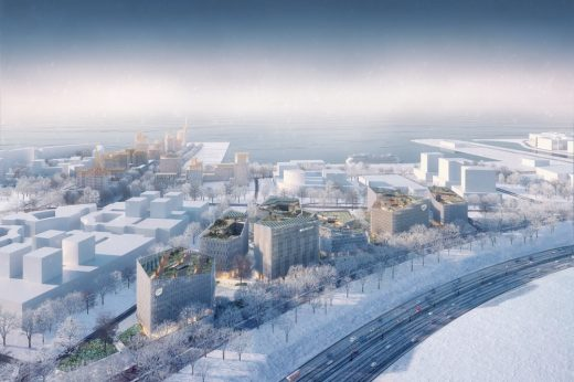 Vasilievsky Island buildings in Russia design by KCAP Architects&Planners / ORANGE Architects