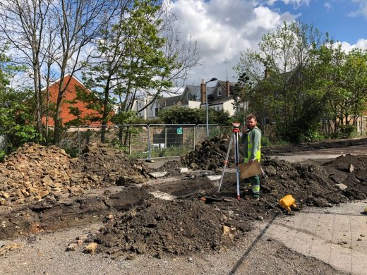 Archaeological digs at Hornsey Town Hall