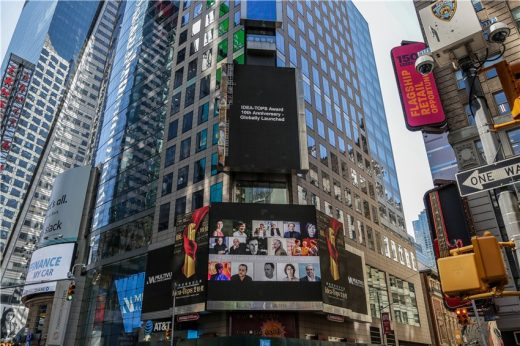 Idea-Tops launches at Times Square in New York City