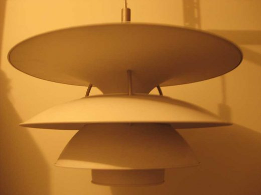 Large Vintage Poul Henningsen PH-6 1/2 lamp Danish lighting design