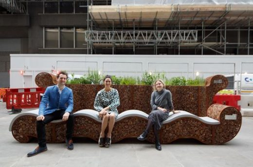 Rocks and Reeds bench London Festival of Architecture City Parklets 2019