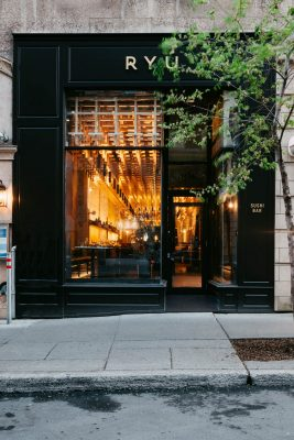 Ryu sushi restaurant - downtown Montreal Architecture News