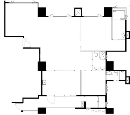 Zhuwei apartment interior design Taipei plan layout