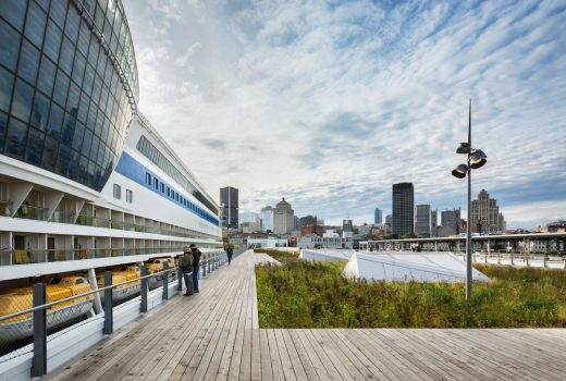 Port of Montreal building by Architects Provencher_Roy