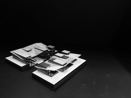 Valencia Community Library building design model - Second Year Student Projects at Edinburgh School of Architecture