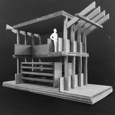 Valencia Community Library building model - Second Year Student Projects at Edinburgh School of Architecture