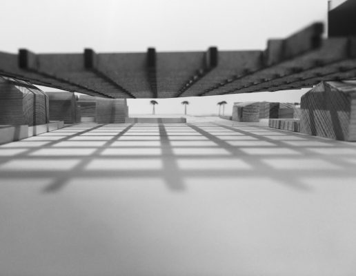 Valencia Community Library building model view - Second Year Student Projects at Edinburgh School of Architecture