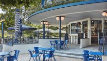 Blauwe Theehuis, Vondelpark Amsterdam Blue Tea House by Studio Modijefsky