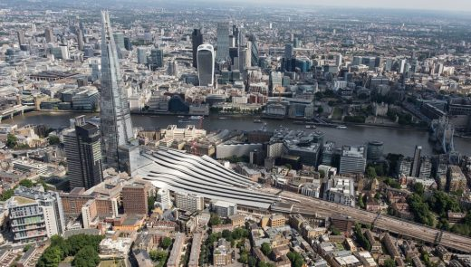 London Bridge Station aerial photo