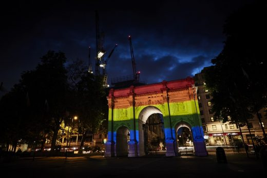 Marble Arch London Pride Illumination, Hyde Park 2019